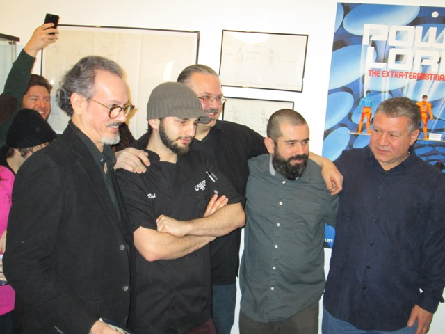 (from left to right) Power Lords Creator Wayne Douglas Barlowe, Cake Boss Sculptor Ralph Attanasia, with the Four Horsemen Cornboy Mayse, Eric Treadaway and Jim Preziosi.