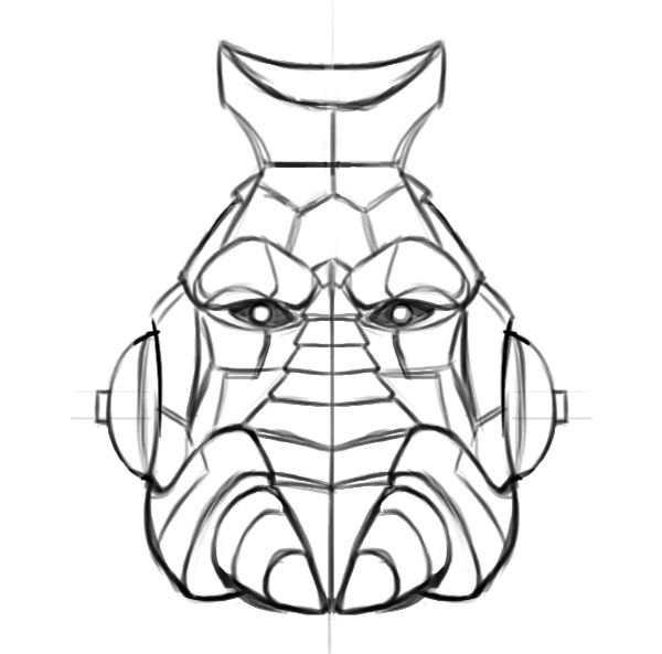 Gripptikk head armored sketch