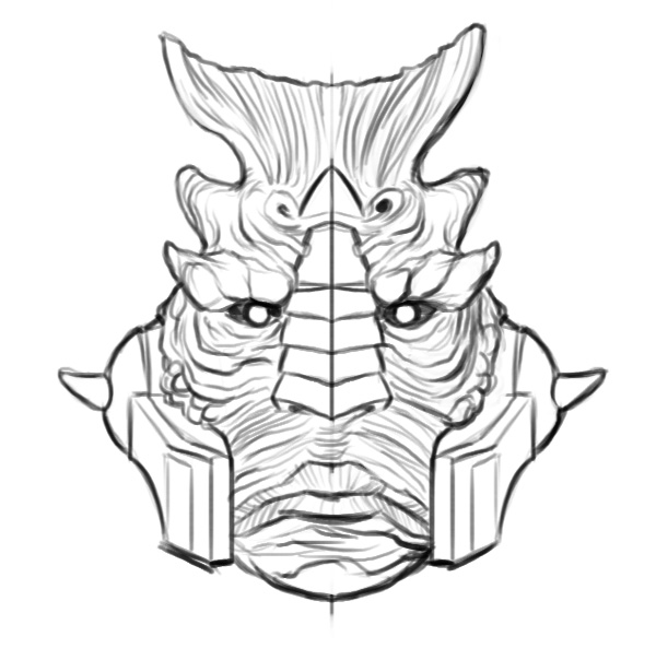 Gripptikk head sketch